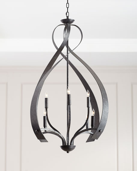 8-Light Cage Chandelier