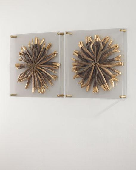 Palecek Acrylic Driftwood Round Wall Decor