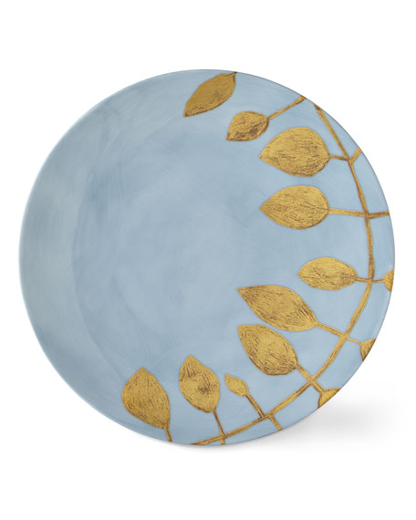 Haviland & Parlon Daphne Lavande Gold-Leaf Dinner Plate, Blue