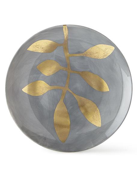 Haviland & Parlon Daphne Lavande Gold-Leaf Dessert Plate, Gray