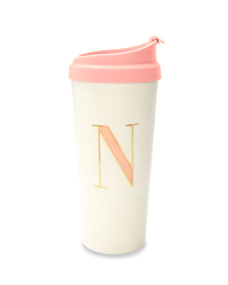 "kate spade new york thermal ""n"" initial travel mug"