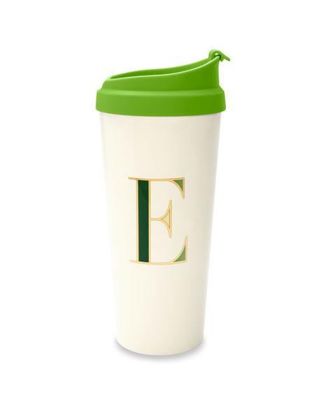 "kate spade new york thermal ""e"" initial travel mug"
