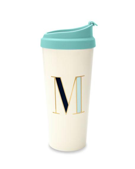 """kate spade new york thermal """"m"""" initial travel mug"""