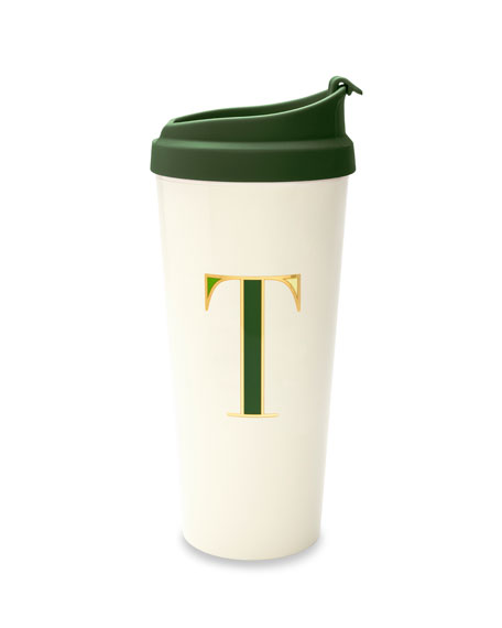 "kate spade new york thermal ""t"" initial travel mug"