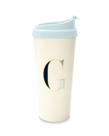 """kate spade new york thermal """"g"""" initial travel mug"""
