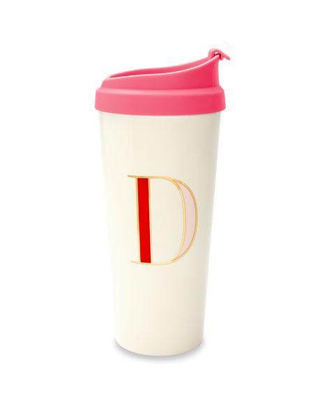 """kate spade new york thermal """"d"""" initial travel mug"""