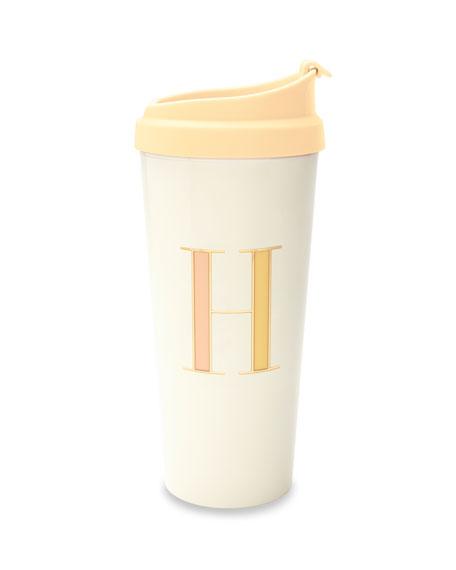 """kate spade new york thermal """"h"""" initial travel mug"""