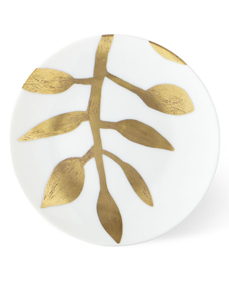 Haviland & Parlon Daphne White Gold-Leaf Bread Butter Plate
