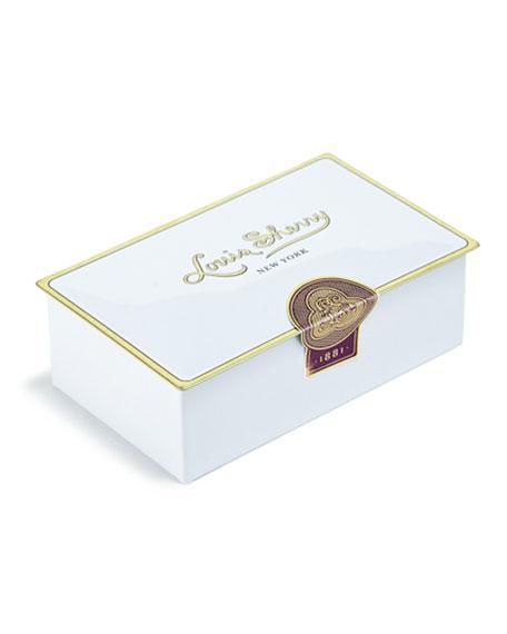 Louis Sherry Magnolia White Two-Piece Chocolate Truffle Tin
