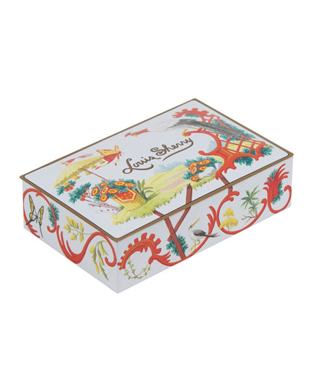 Louis Sherry Jardin Chinois 12-Piece Assorted Chocolate Truffle Tin