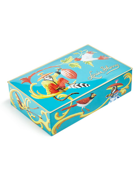 Louis Sherry Singerie Teal 12-Piece Assorted Chocolate Truffle Tin