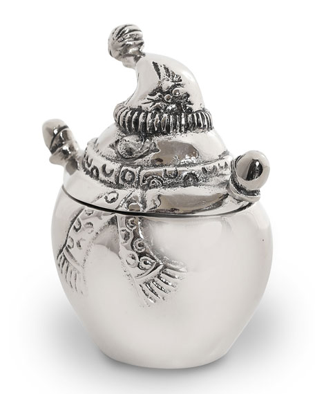 Star Home Designs Lidded Snowman Jar