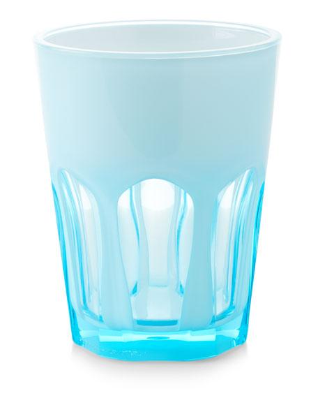 Mario Luca Giusti Double Face Acrylic Tumbler Glass, Turquoise