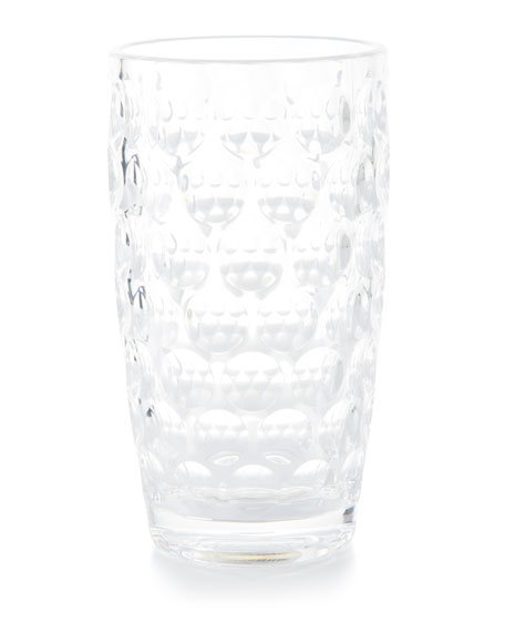 Mario Luca Giusti Lente Acrylic Highball Glass, Clear