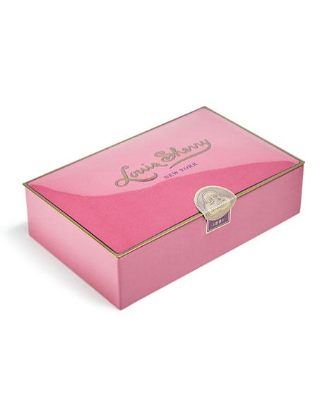 Louis Sherry Draper Pink 12-Piece Assorted Chocolate Truffle Tin