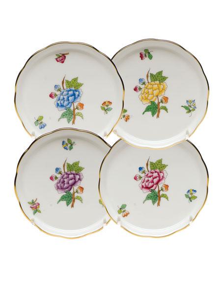 Herend Floral Porcelain Coasters, Set of 4