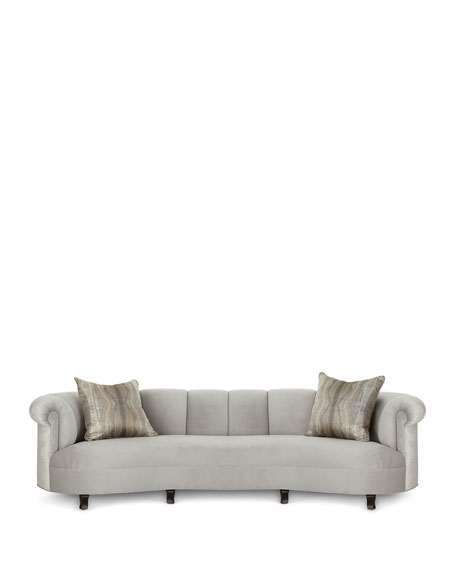 Haute House Audrey Channel Tufted Sofa 123""