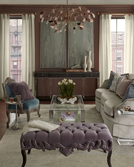 Haute House Camile Tufted Bench