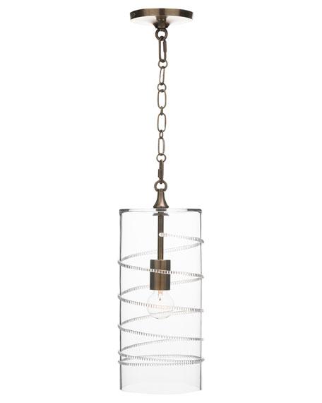 Juliska Amalia Column Brass Pendant