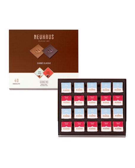 Neuhaus Chocolate 40-Piece Classic Milk & Dark Chocolate Box