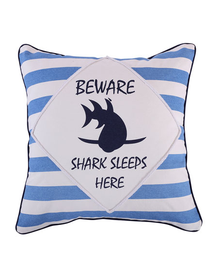 Levtex Sammy Shark Beware Pillow