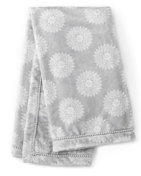 Levtex Willow Medallion Blanket, Gray