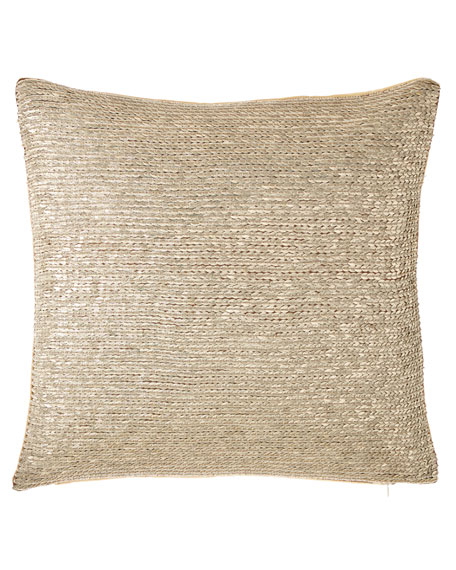 "Isabella Collection by Kathy Fielder Jaden Sequin Pillow, 20""Sq."