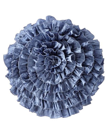 Ann Gish Charmeuse Seaflower Pillow