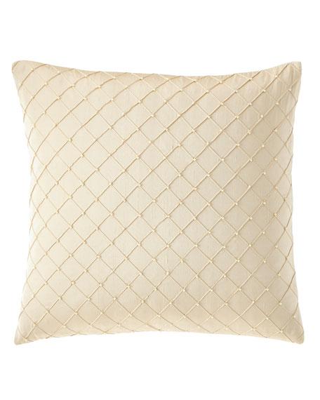 Isabella Collection by Kathy Fielder Gabriella Diamond-Pattern Pillow