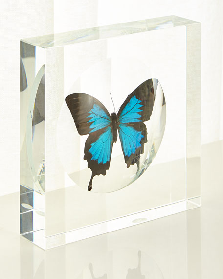 John-Richard Collection Blue Swallowtail Butterfly Crystal Box