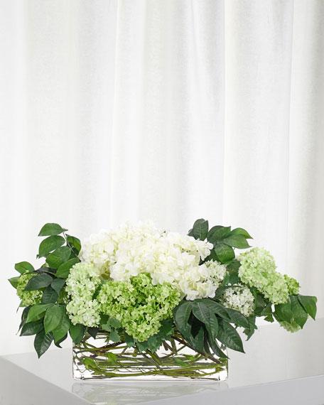 NDI Snowball Hydrangea Floral Arrangement