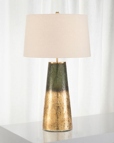 Charcoal Gold Glass Table Lamp