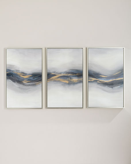 "Image 1 of 2: ""Beneath the Blue"" Giclee Canvas Wall Art, Set of 3"