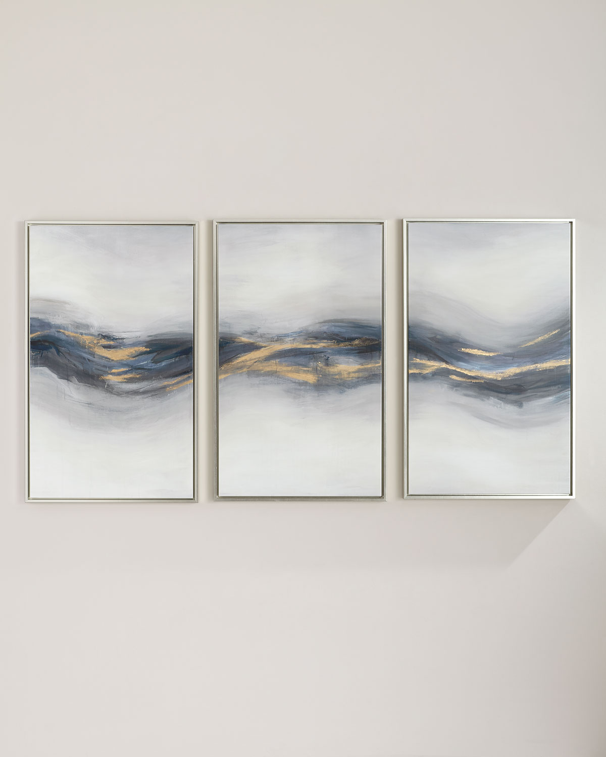 """Beneath the Blue"" Giclee Canvas Wall Art, Set of 3"