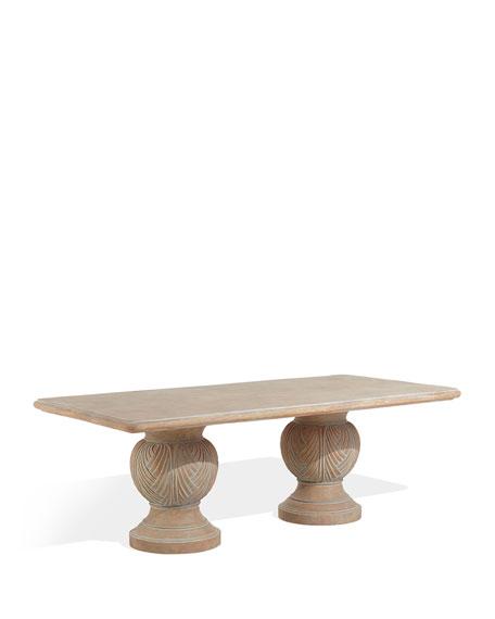 Double Pedestal Indoor/Outdoor Dining Table
