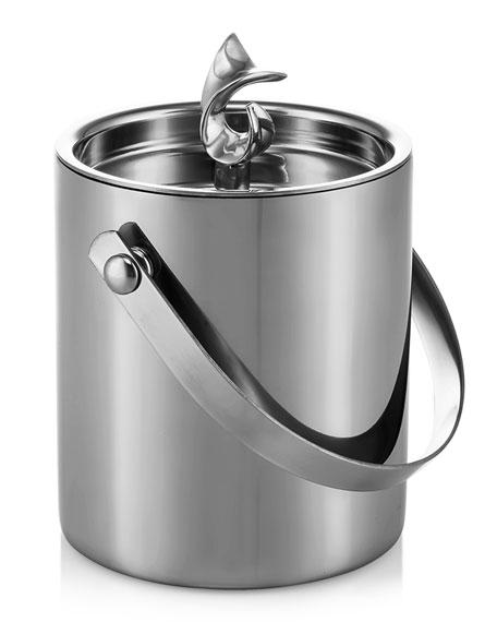 Carrol Boyes New Leaf Ice Bucket With Handle