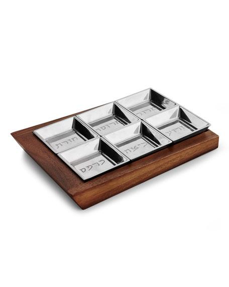 Nambe Judaica Geo Seder Plate