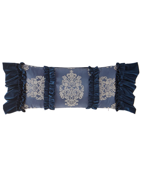 Dian Austin Couture Home Belle Oblong Pillow with Ruffles