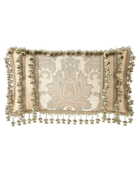 Sweet Dreams Gianna Oblong Pillow with Onion Fringe