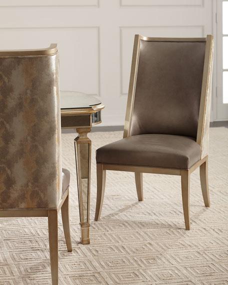 Massoud Jerrick Leather Dining Chair