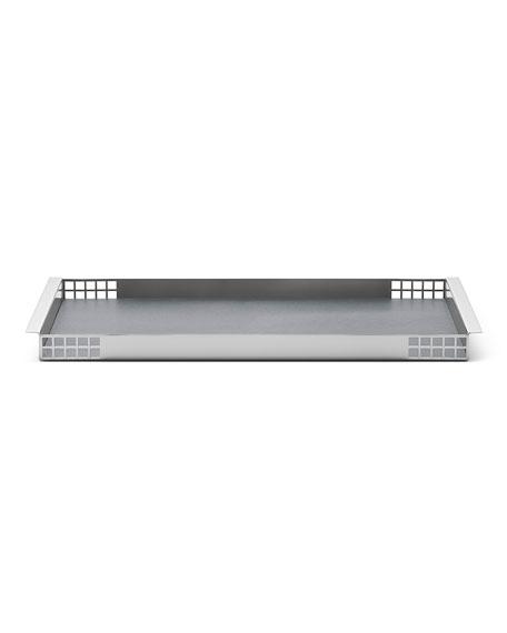 Georg Jensen Matrix Mirror Stainless Steel Tray