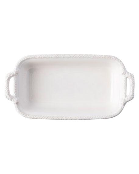 Juliska Le Panier White-Wash Shallow Baker