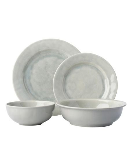 Juliska 4-Piece Puro Grey Mist Crackle Dinnerware Place Setting