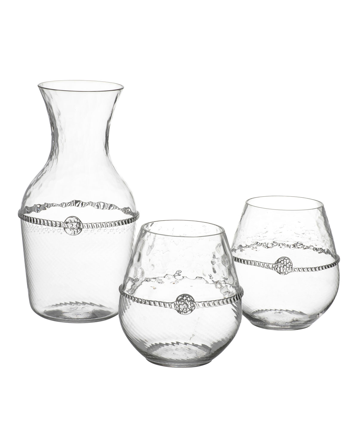 Juliska Graham Carafe & Stemless Red Wine Glasses Gift Set