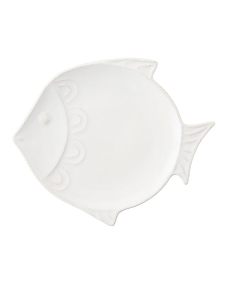"Juliska Berry & Thread White-Wash Crackle ""Fish"" Dessert/Salad Plate"