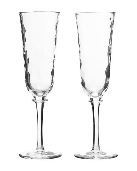 Juliska Carine Champagne Toasting Flutes, Set of Two
