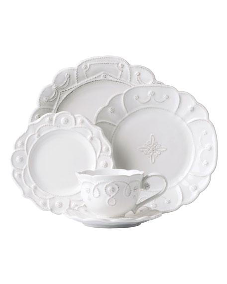 Juliska 5-Piece Jardins du Monde Whitewash Dinnerware Place Setting