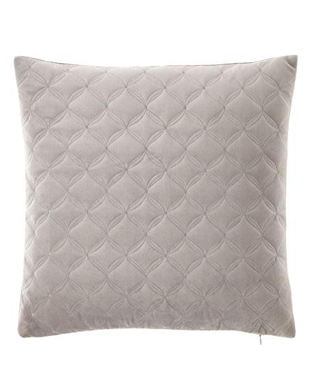 Austin Horn Collection Diamond Embroidered Velvet Pillow