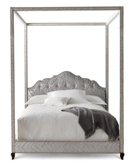 Haute House Athena Zebra California King Canopy Bed