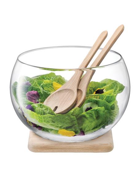 LSA Salad Set with Oak Base